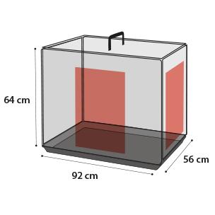 FLAMINGO - Cage Ebo taupe L 56x92x54