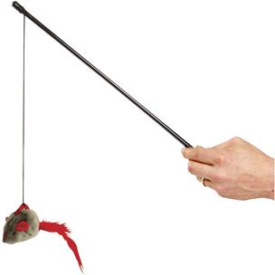 FLAMINGO - Canne à pêche souris + Son