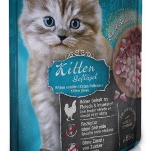 Kitten Volaille 85g en sachet fraîcheur pour chaton - Leonardo